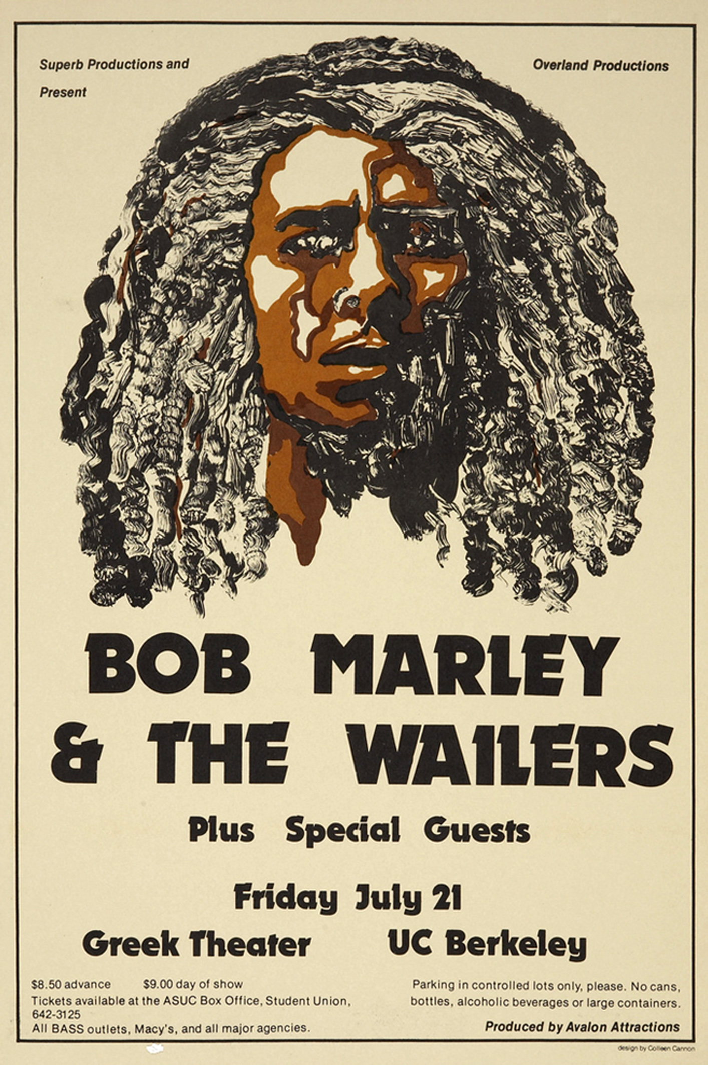 Bob Marley & the Wailers Greek Theater UC Berkeley Concert 1978