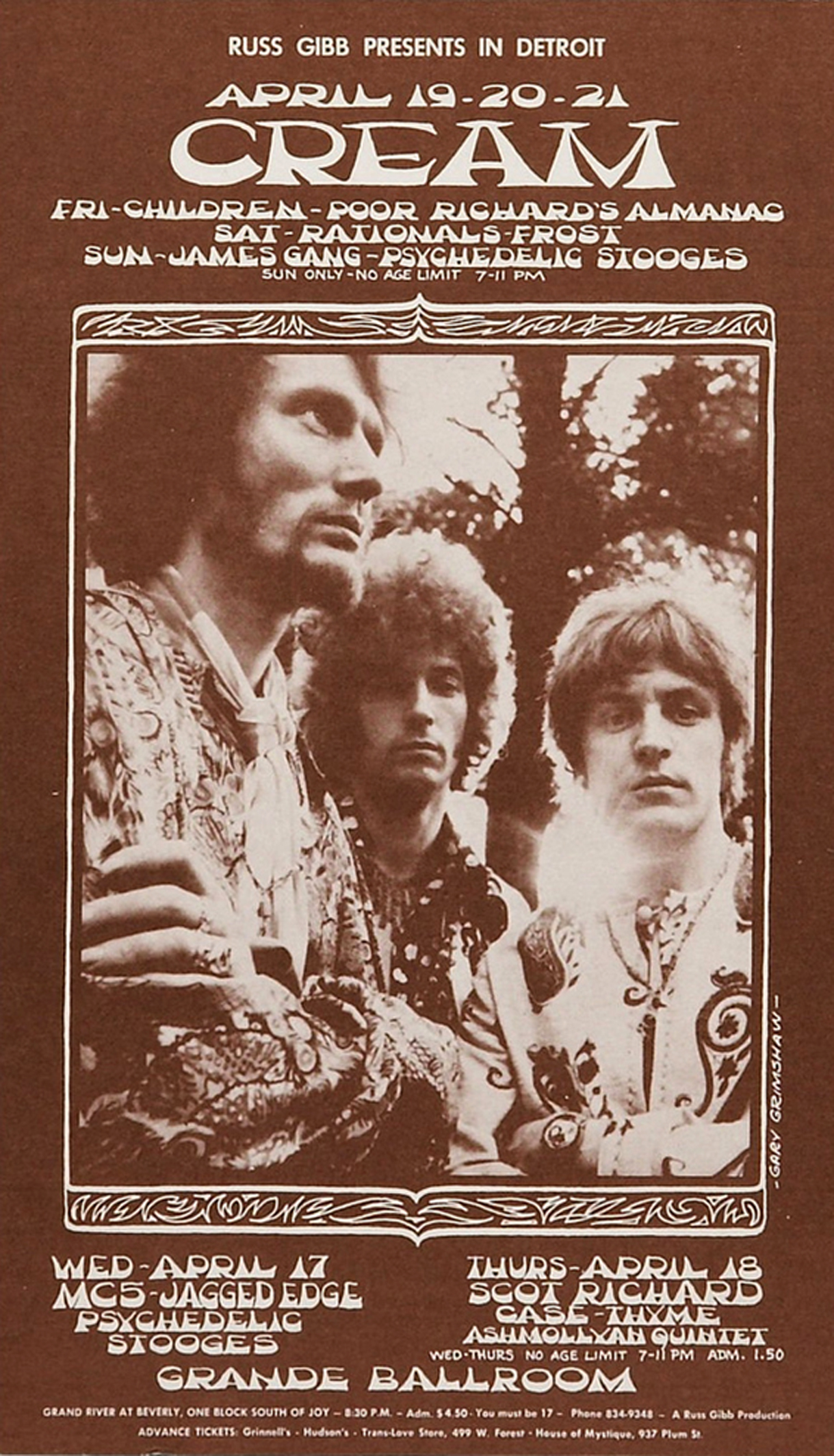 Cream Grande Ballroom, April '68