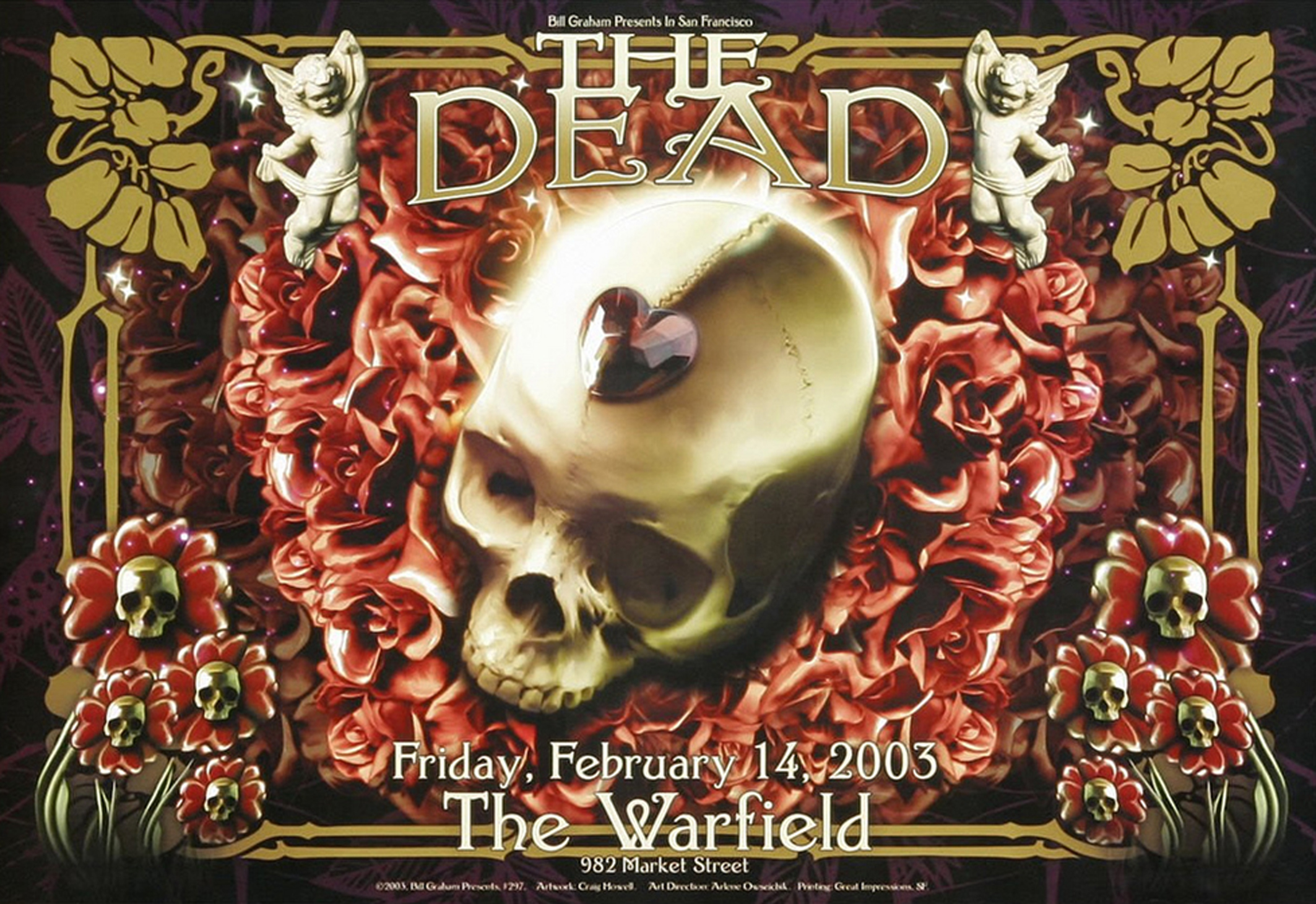 Dead Concert Poster The Warfield 2003