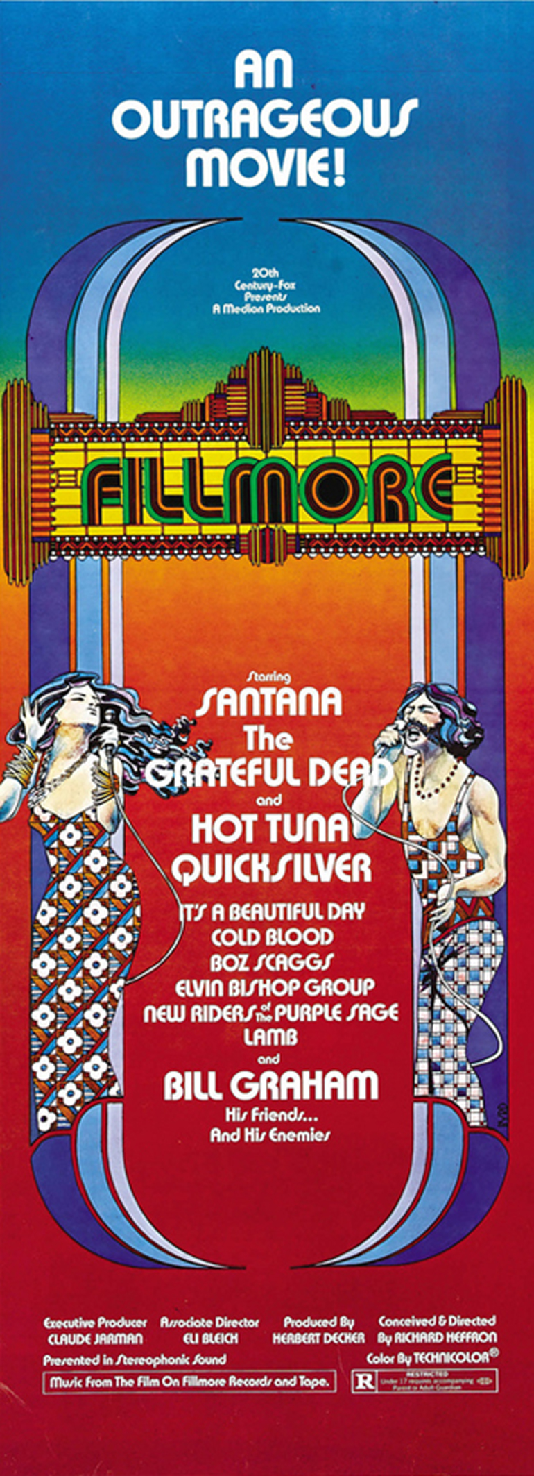 Fillmore Movie Insert Poster (Twentieth Century Fox, 1972)