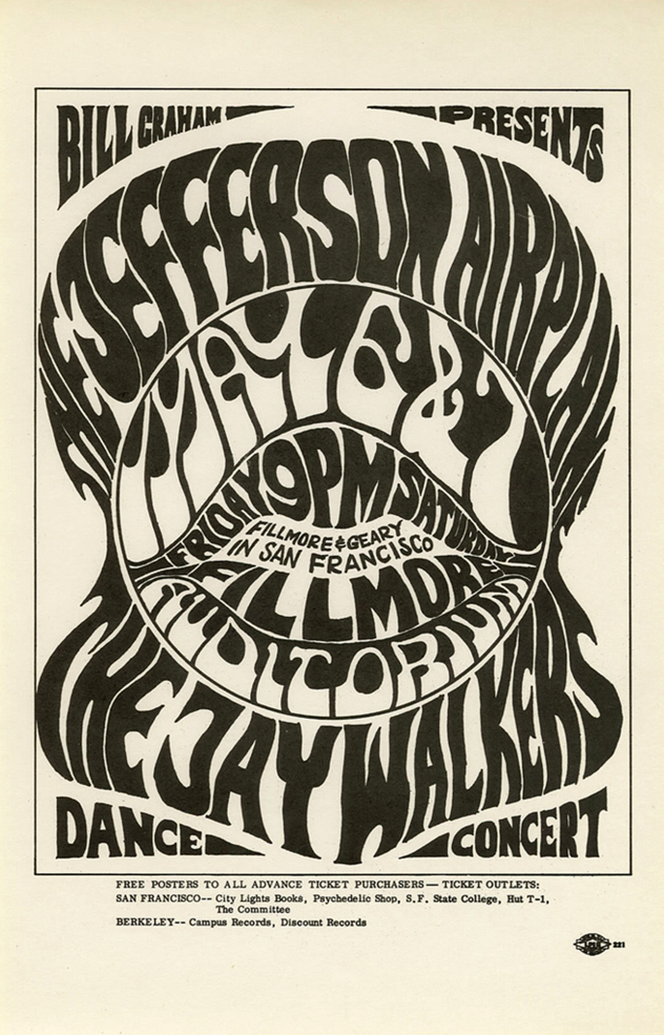 Jefferson Airplane at the Fillmore (San Francisco, 1966)