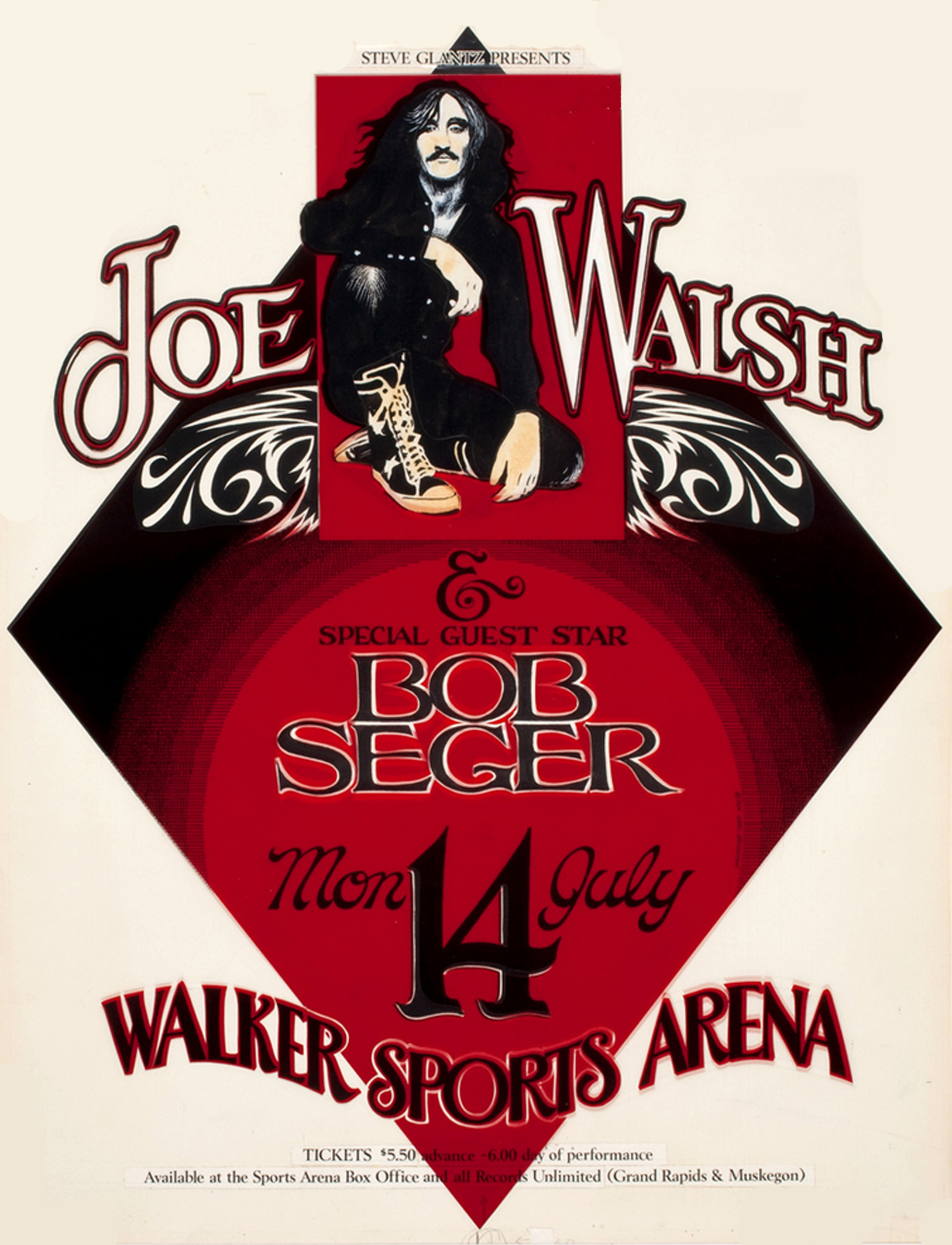 Joe Walsh and Special Guest Bob Seger, Walker Sports Arena