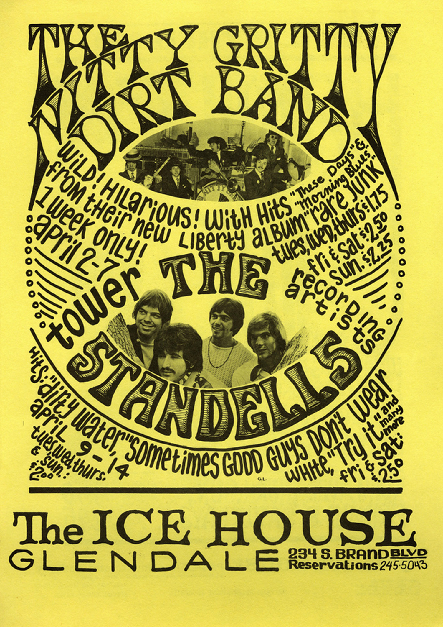 Nitty Gritty Dirt Band, Standells Ice House Concert 1968