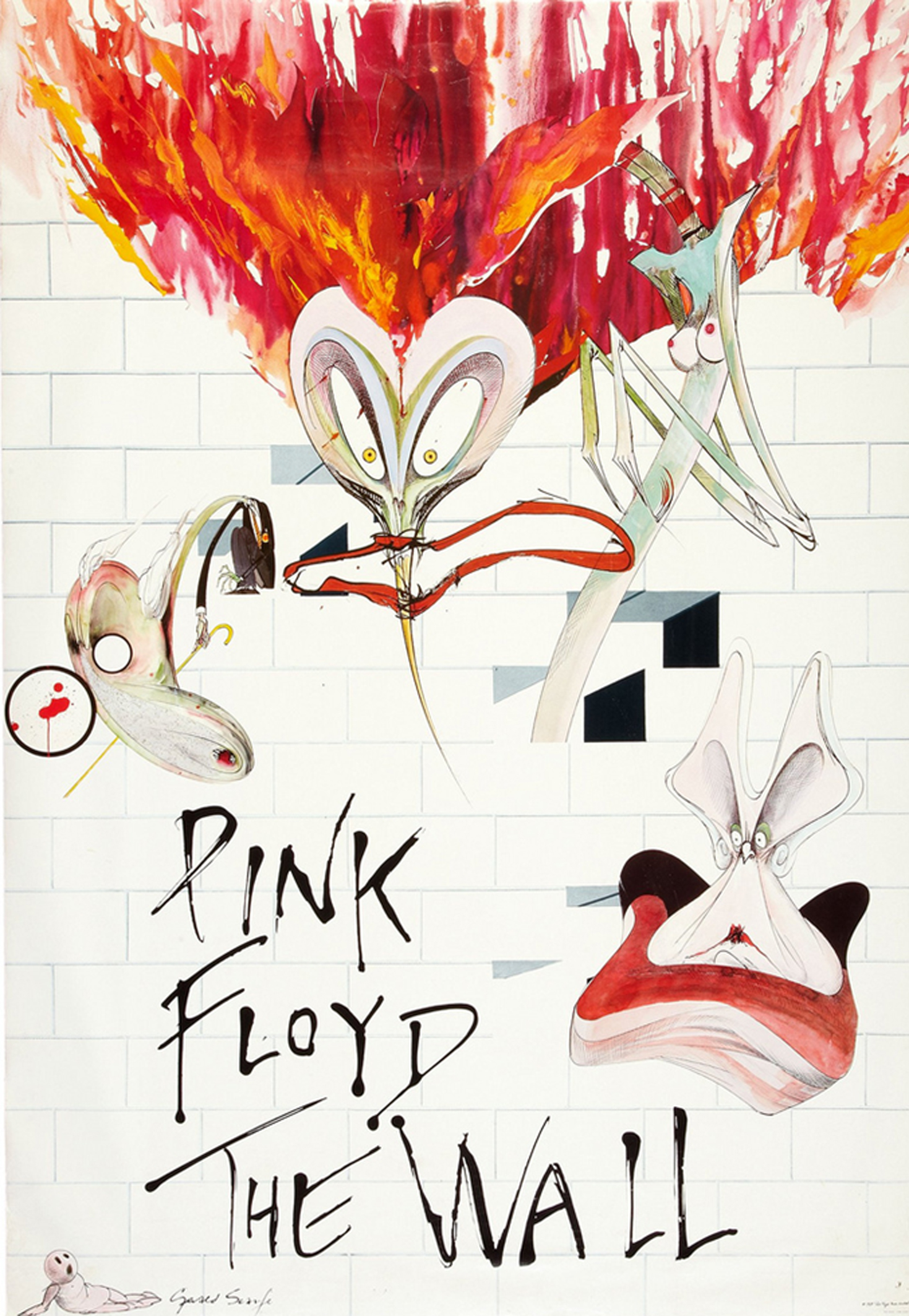 Pink Floyd The Wall Promo Poster (1980)