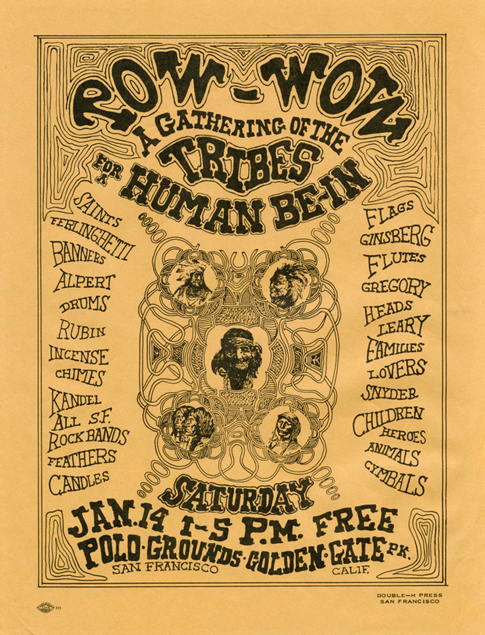 Pow-Wow San Francisco Handbill (1967)