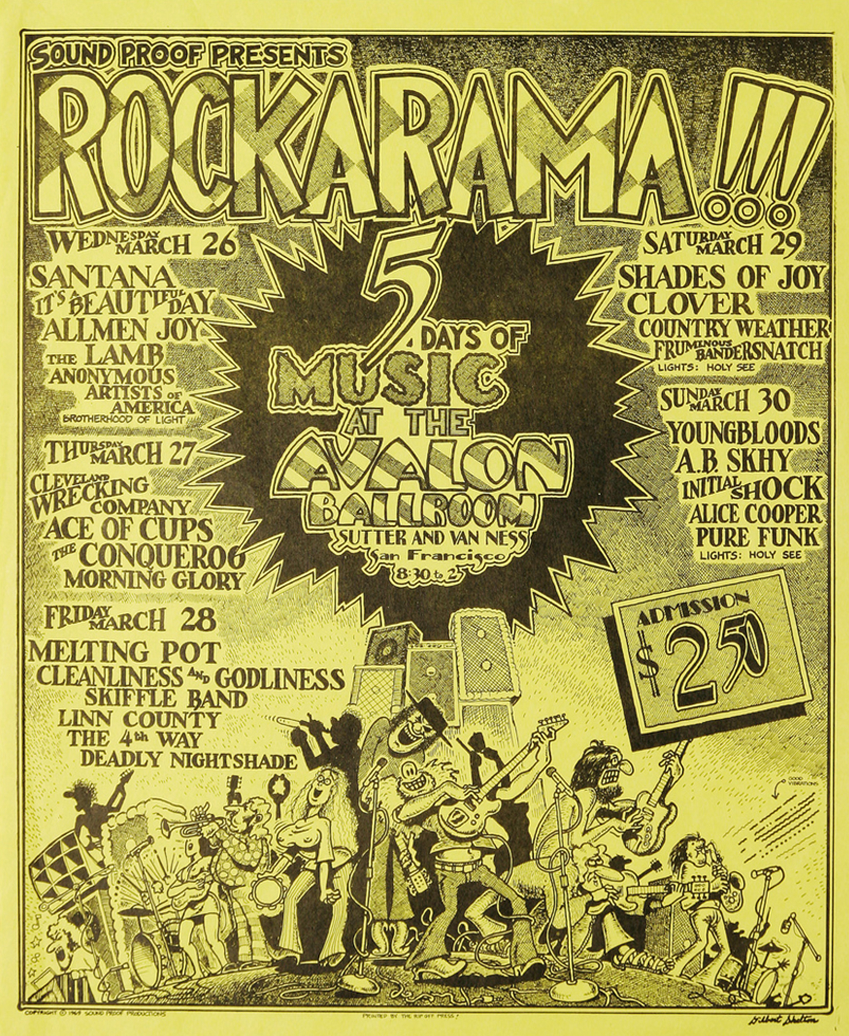 Rockarama Concert Poster Soundproof Productions 1969