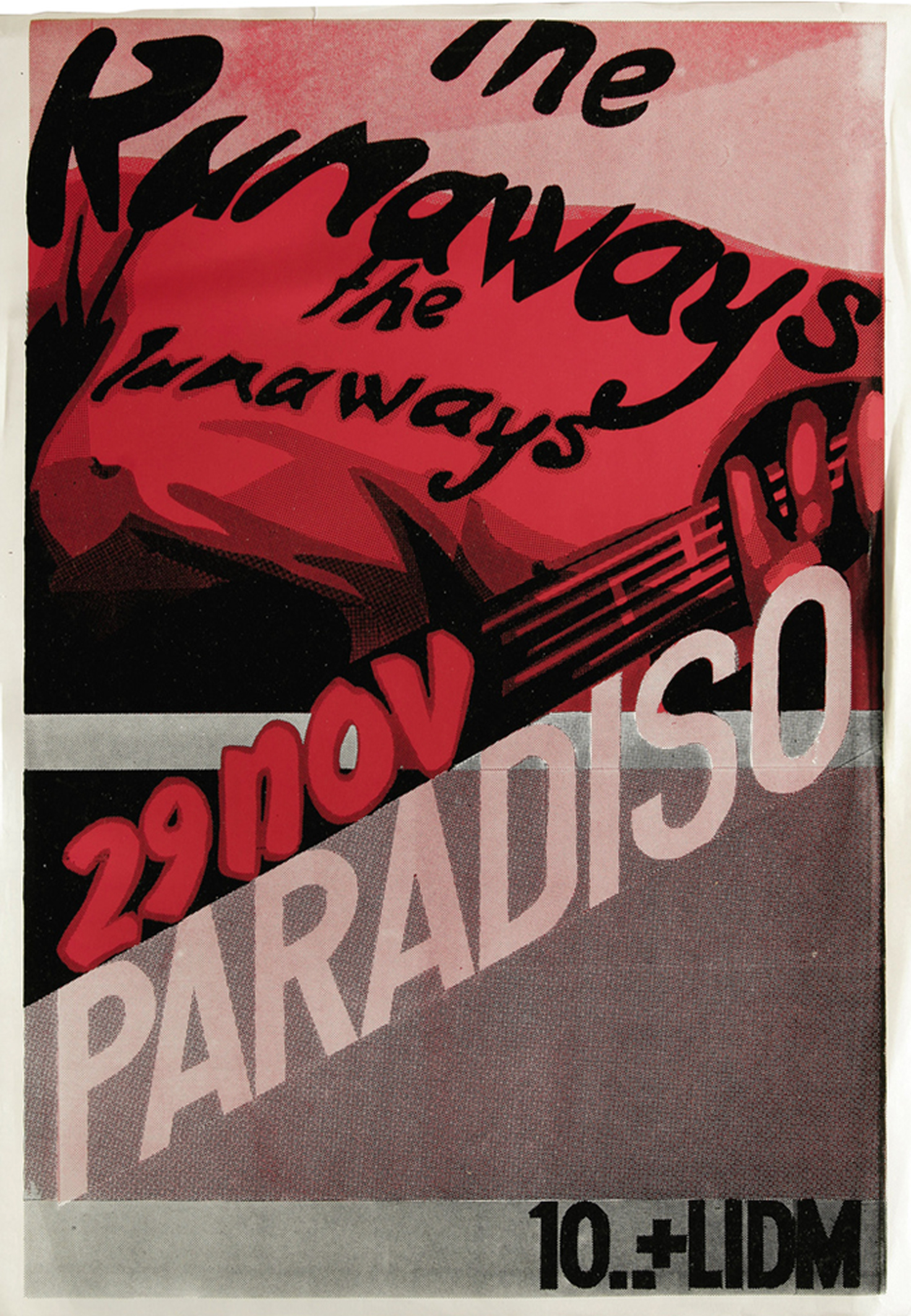Runaways Paradiso Concert Poster (1977)