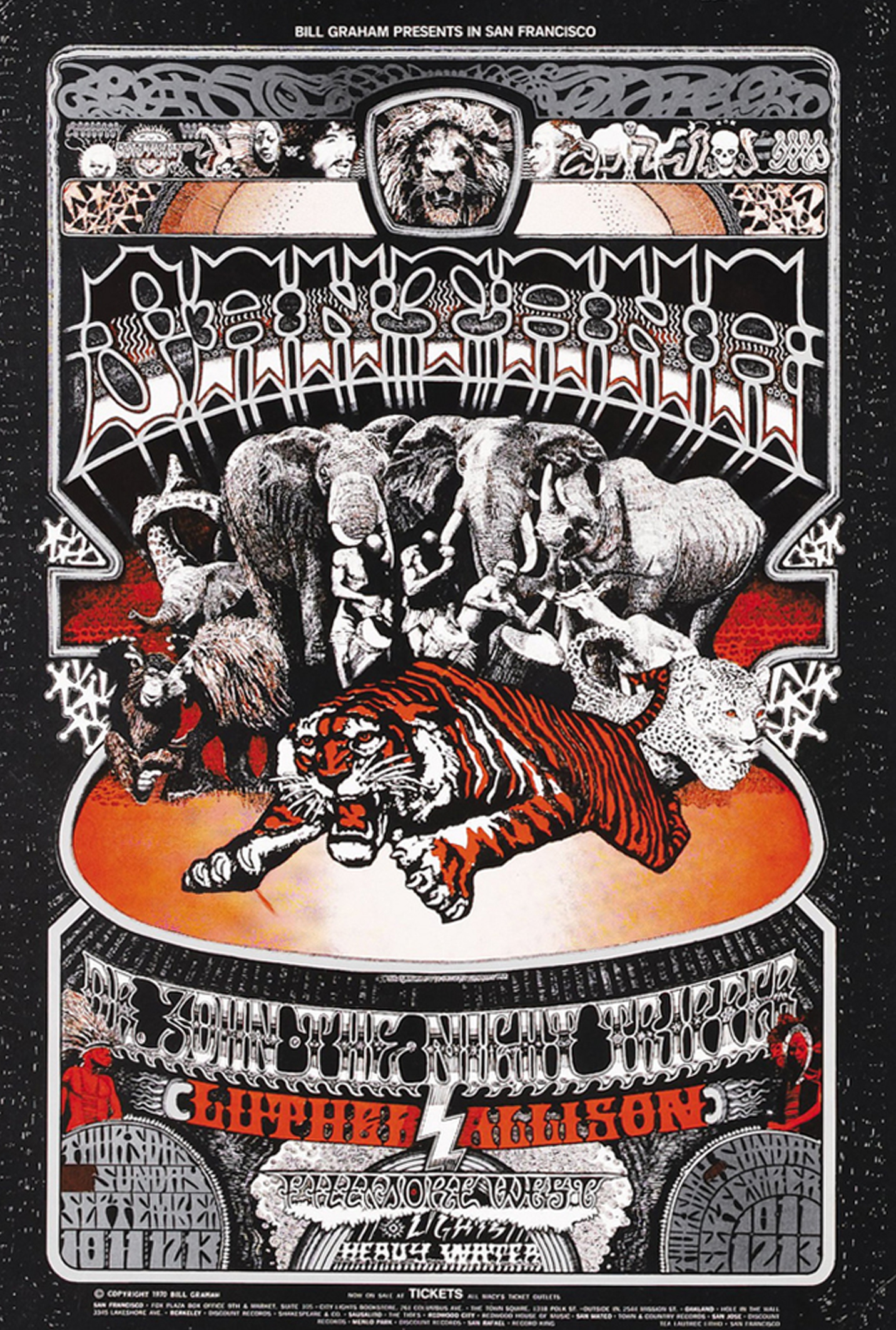 Santana Fillmore West Concert 1970