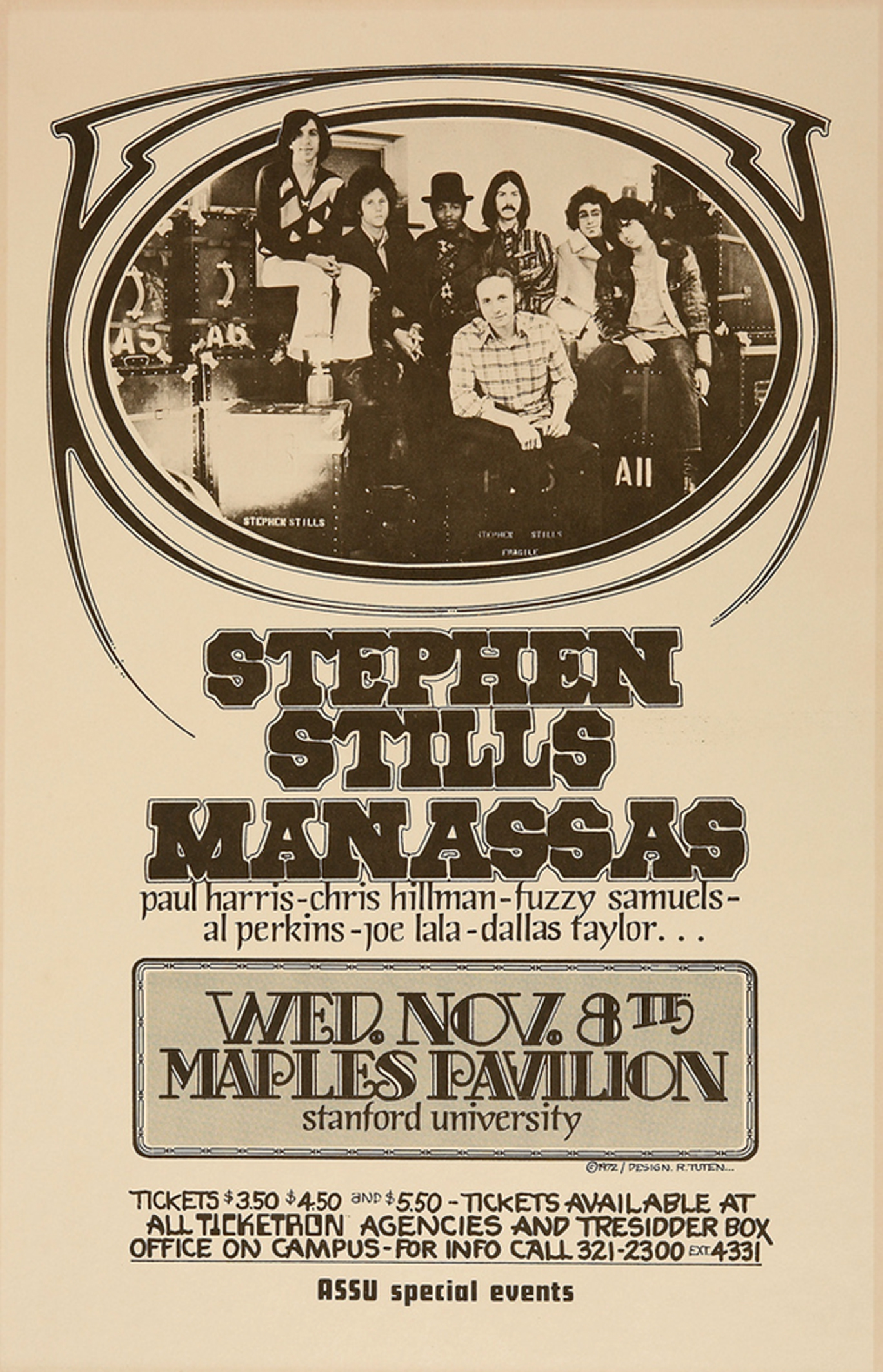 Stephen Stills and Manassas Maples Pavilion Concert 1972