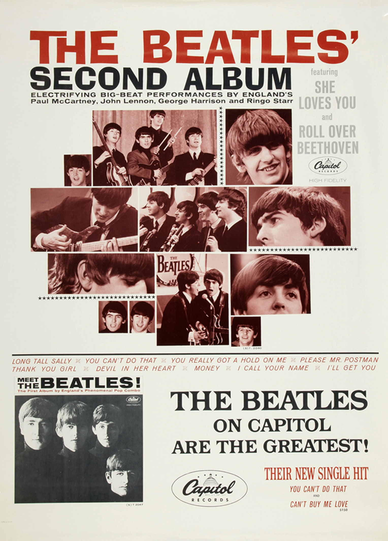 The Beatles Second Album Promotional Display (Capitol, 1964)