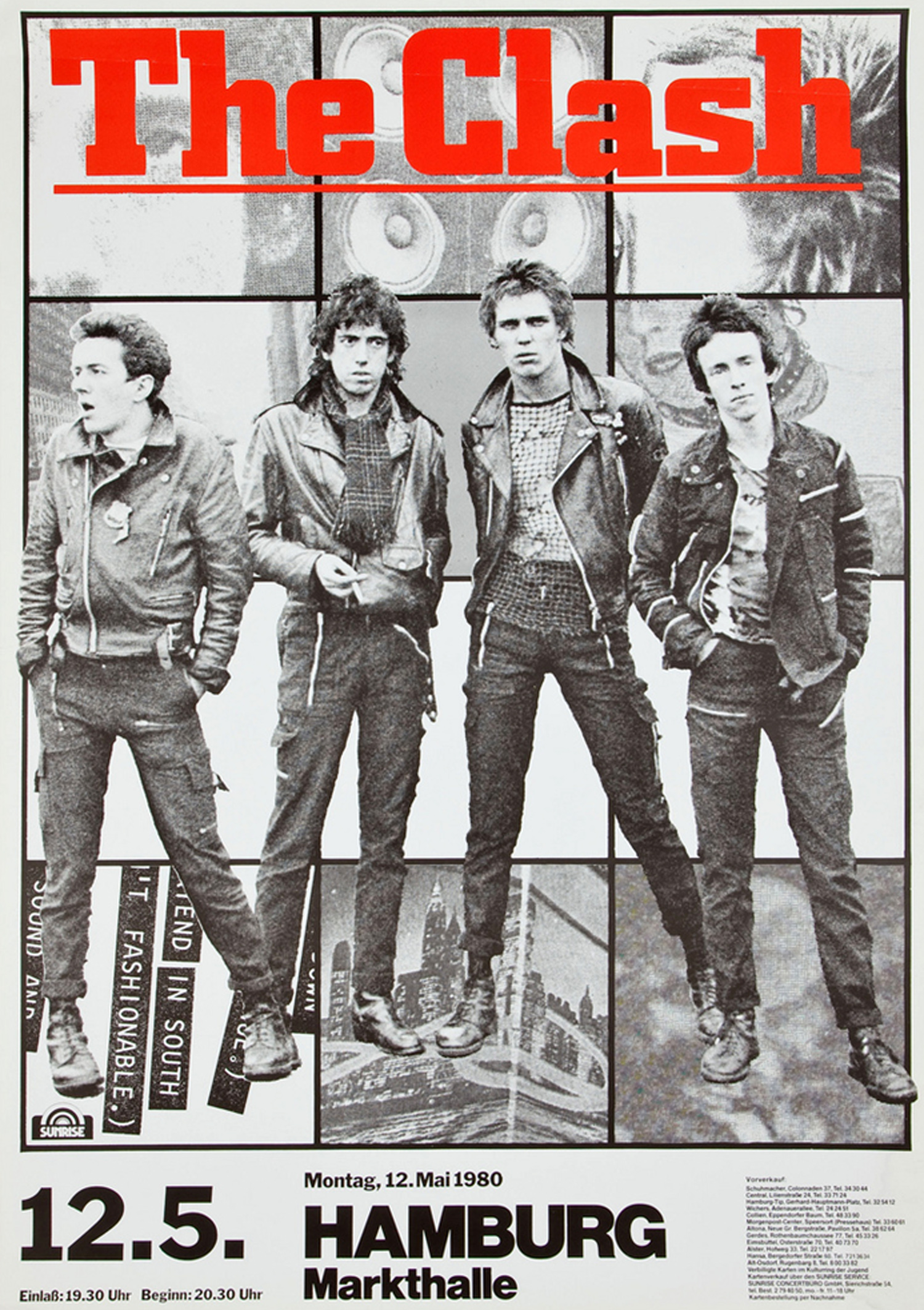 The Clash Hamburg Germany Concert Poster (1980)