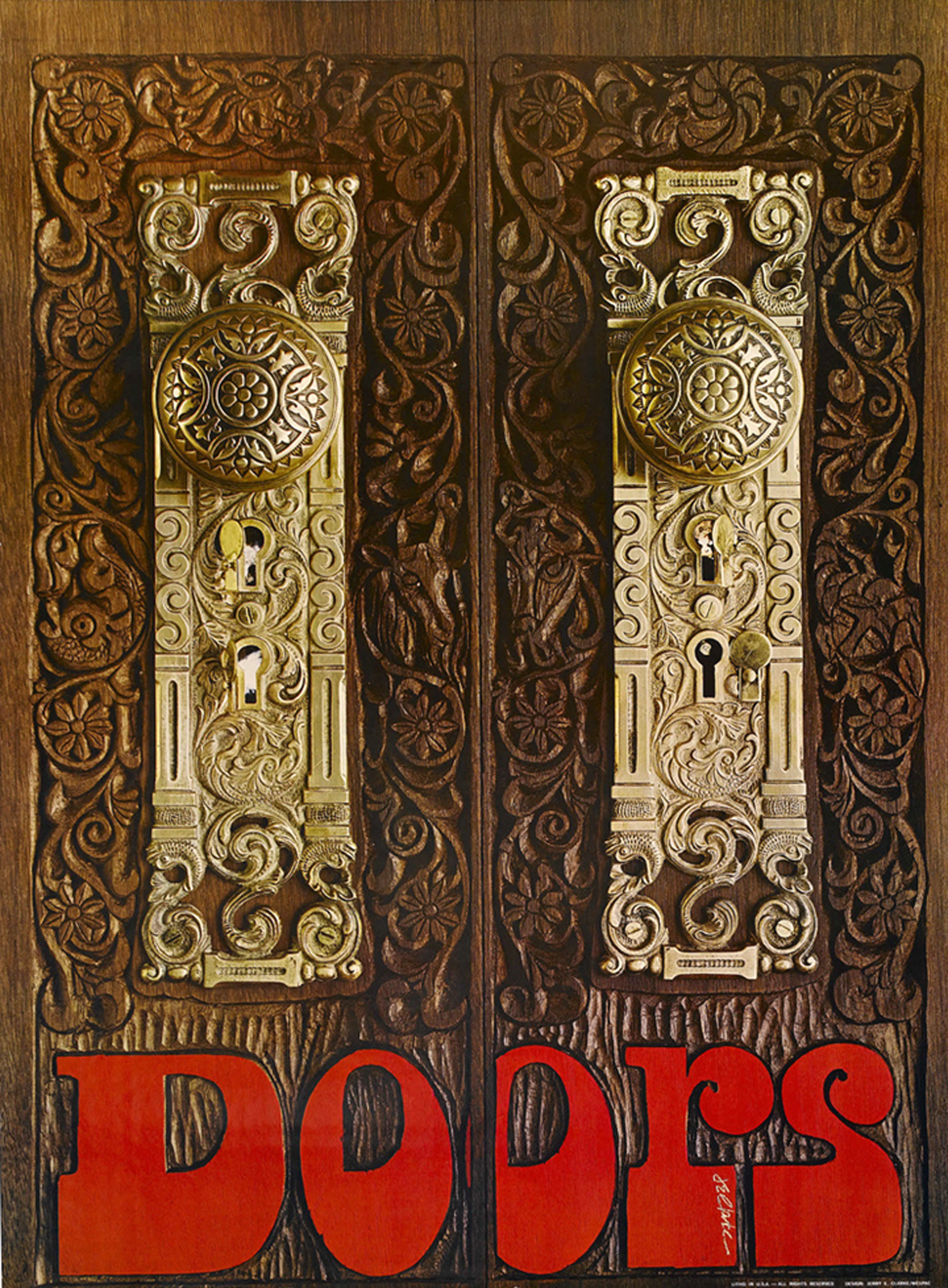 The Doors Promotional Poster (Wespac, 1969)
