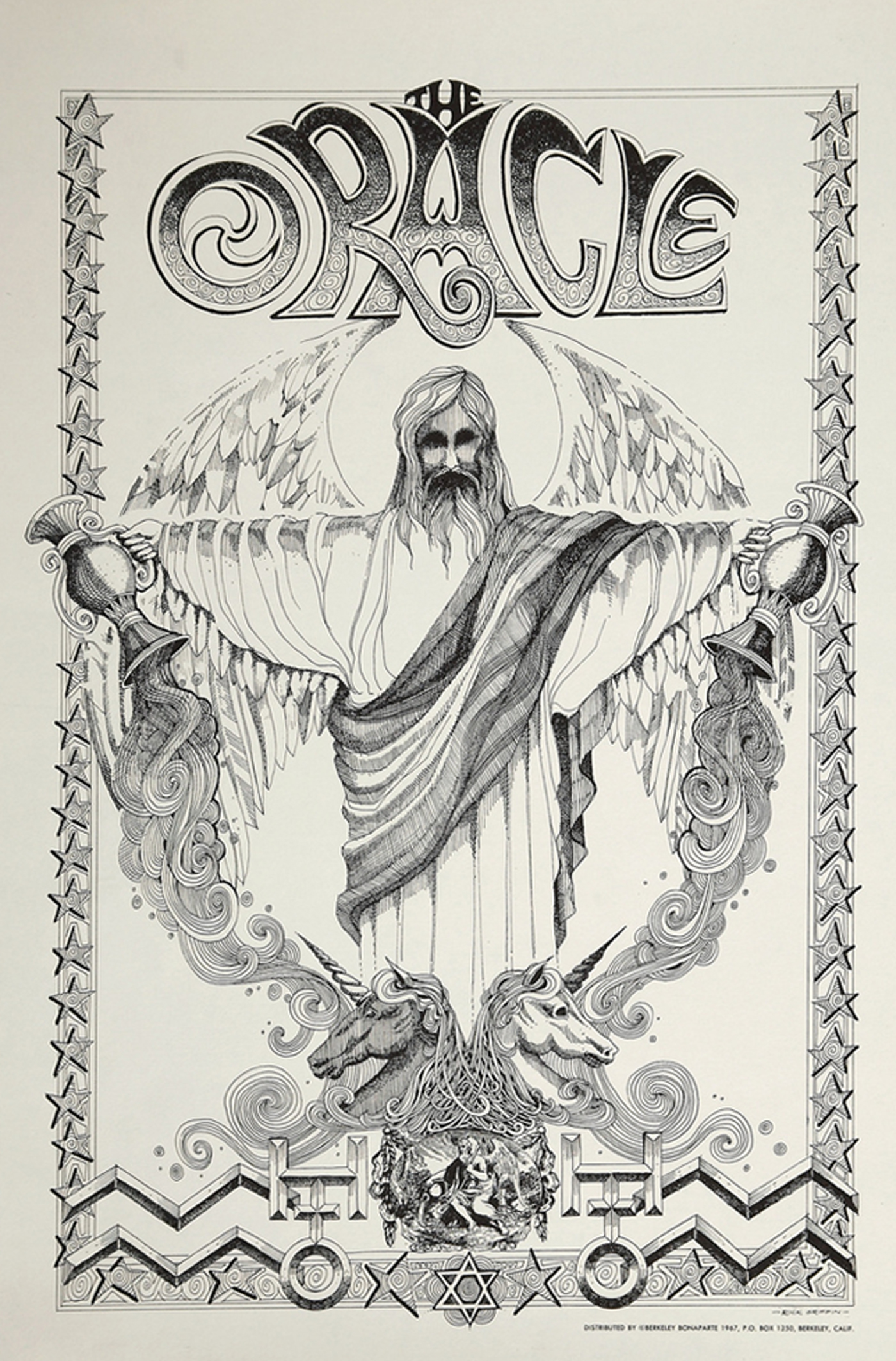 The Oracle Promotional Poster (Berkeley Bonaparte, 1967)