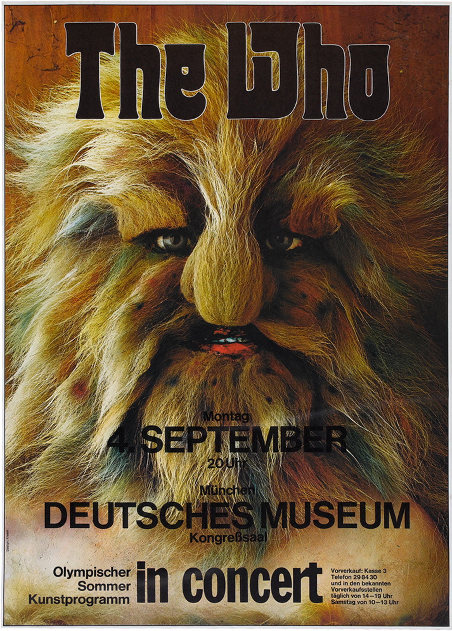 The Who Munich Concert Poster 1972